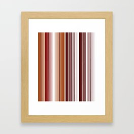 Coffee Color Framed Art Print