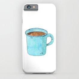 Blue Enamel Coffee Mug iPhone Case