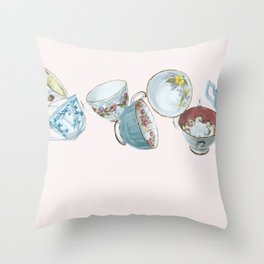 Dancing Queens in Pink Throw Pillow
