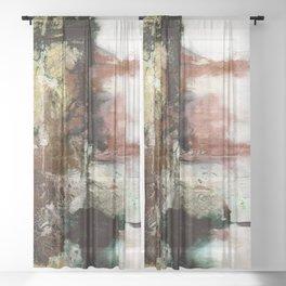 Spiritual Transitions 1q by Kathy Morton Stanion Sheer Curtain