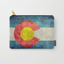 Grungy Colorado Flag Carry-All Pouch