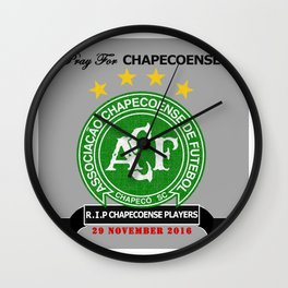 Pray for chapecoense Wall Clock