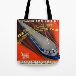 Vintage poster - The Comet Tote Bag
