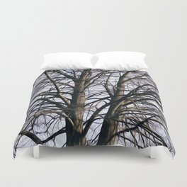 Stained Glass Tree Duvet Cover