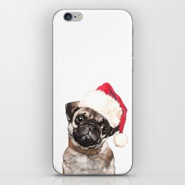 Christmas Pug iPhone Skin