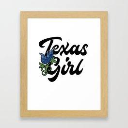 Texas Girl Framed Art Print