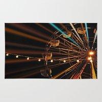 ferris wheel Area & Throw Rugs featuring Ferris Wheel by Renee Trudell