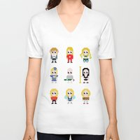britney V-neck T-shirts featuring It's Britney! by Joey Siqueira