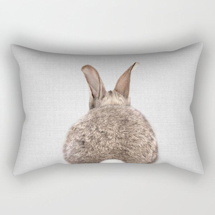 Rabbit Tail - Colorful Rectangular Pillow