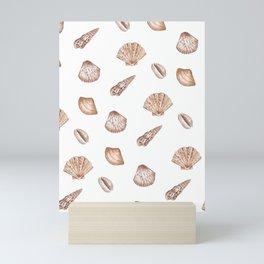 Seashell Pattern Illustration Mini Art Print