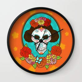 Day of the Dead Beauty Wall Clock