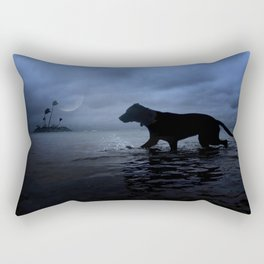 Isabella Under Moonlight Paradise. Rectangular Pillow