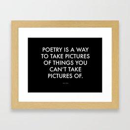 """Poetry"" Text Framed Art Print"