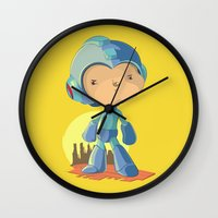 megaman Wall Clocks featuring Megaman by Rod Perich