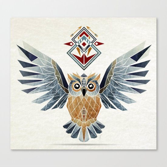 owl winter Canvas Print