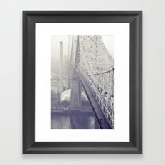 59th street bridge... Framed Art Print