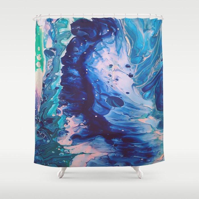 Aquatic Meditation Shower Curtain By Duckyb