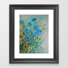 Blue Petals Garden Framed Art Print