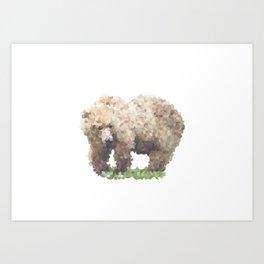 Penrose Tiling Bear Art Print