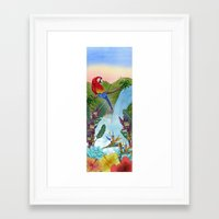 brasil Framed Art Prints featuring Brasil by Thyra