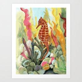 Kona Seahorse Art Print