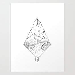 Camping Mountain Art Print