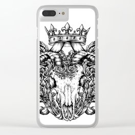 Royal goat skull (tattoo style) Clear iPhone Case