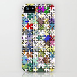 Jigsaw junkie iPhone Case