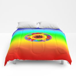 Ohm with Chakra Colours Comforters