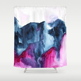 Abstract Indigo Mountains 2 Shower Curtain