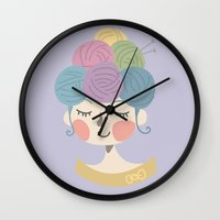 knit Wall Clocks featuring Knit Wit by Brittnee-Leigh