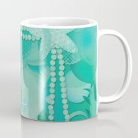 mermaid Mugs featuring Ocean Queen by Graphic Tabby