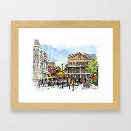 Chartres Street, New Orleans Framed Art Print