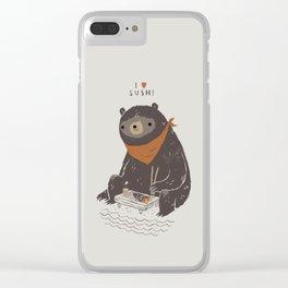 sushi bear Clear iPhone Case