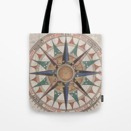 Historical Nautical Compass (1543) Tote Bag