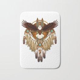 Bald Eagle Mandala Bath Mat