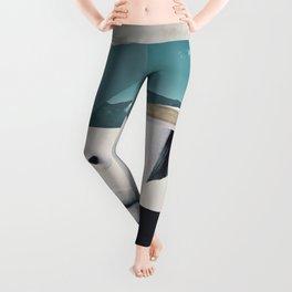 woman portrait /collage 3 Leggings