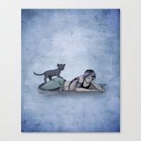 helen Canvas Prints featuring Helen by CRWarner