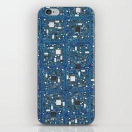 Blue tech iPhone Skin