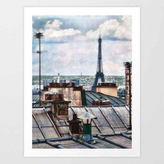 Montmartre Rooftop Art Print