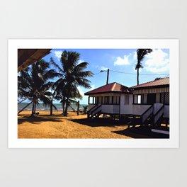 Ruthie's Cabanas Art Print