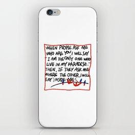 Ugly hand writing by artist ozo iPhone Skin