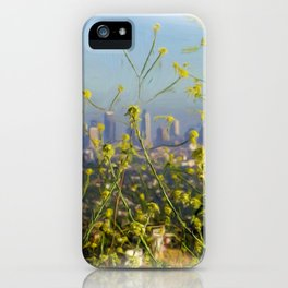 Downtown LA Looking Through The Wildflowers iPhone Case
