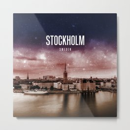 Stockholm Wallpaper Metal Print