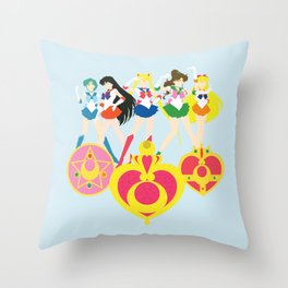 Sailor Soldiers Throw Pillow