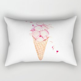 Pink Macaroons Rose Ice Cream Fashion Stylish Minimalism Food Rectangular Pillow