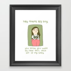 Horny Nerdy Girl Framed Art Print