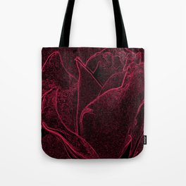 Gothic Rose in Black and Scarlet Tote Bag