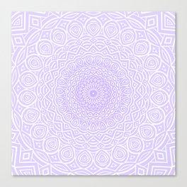 Purple Violet Mandala Design Extra Detailed Geometric Ethnic Tribal Pattern Canvas Print