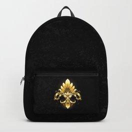Golden Fleur de Lis Backpack